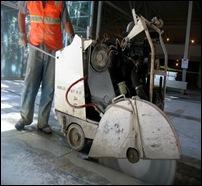 cutting concrete slab 1
